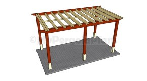 Attached Pergola Plans