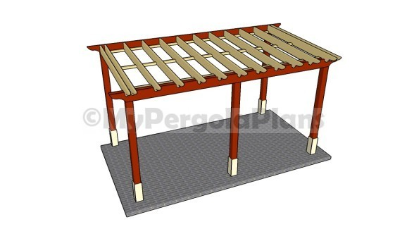 Attached pergola plans - Attached Pergola Plans Free Pergola Plans