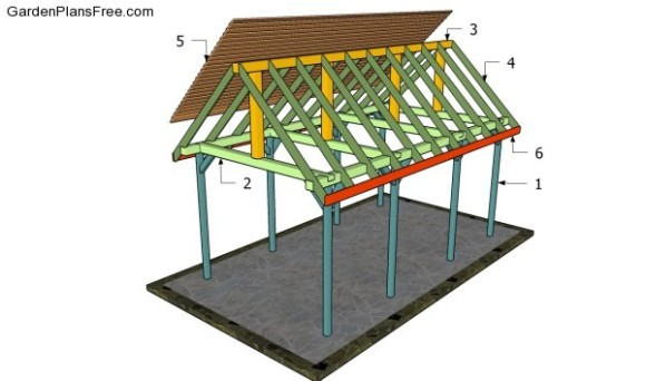 15 outdoor wood furniture plans free pergola plans for Garden pavilion designs